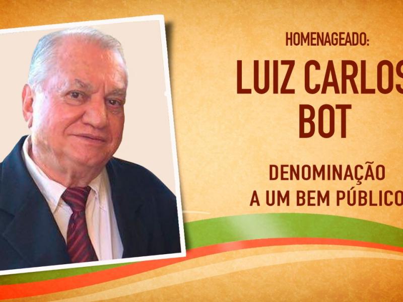 Vereadores prestam homenagem a Luiz Carlos Bot